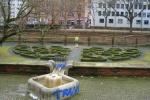 Strickguerilla im Tiefgarten Eschenheimer Anlage