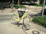 Werbung an Fahrrad