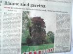 FR 24.8.2013 Bäume sind gerettet