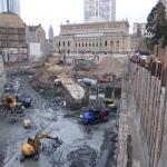 Alte Stadtmauer am Opernplatz am 5.12.2013