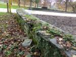 Mauer im Grüneburgpark - restauriert