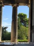 Athen Bäume und Gemäuer